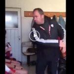Video: Nogometni trener oklofutal vse svoje igralce
